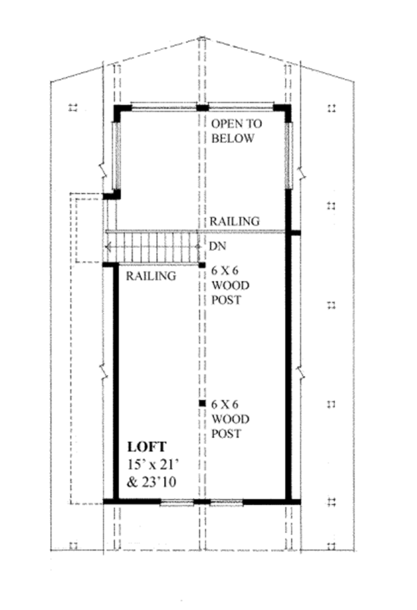 Cabin Floor Plan - Upper Floor Plan Plan #118-163