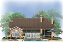 House Plan Design - Mediterranean Exterior - Rear Elevation Plan #929-766
