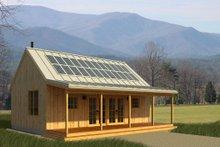 Cabin Exterior - Front Elevation Plan #497-14