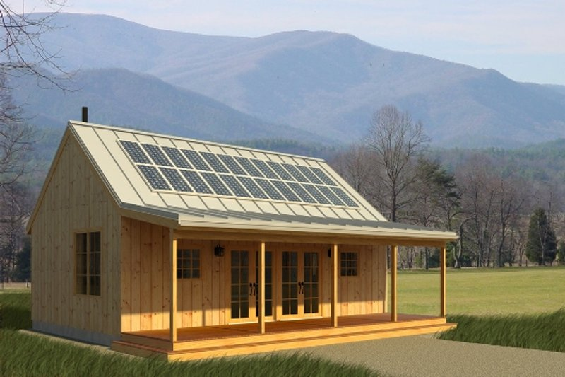 House Plan Design - Cabin Exterior - Front Elevation Plan #497-14