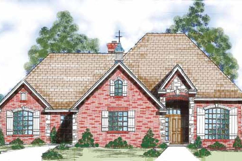 Traditional Exterior - Front Elevation Plan #52-277