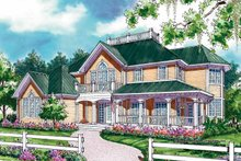 Dream House Plan - Country Exterior - Front Elevation Plan #930-56