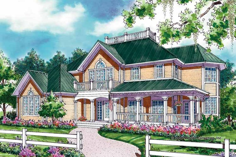 Architectural House Design - Country Exterior - Front Elevation Plan #930-56