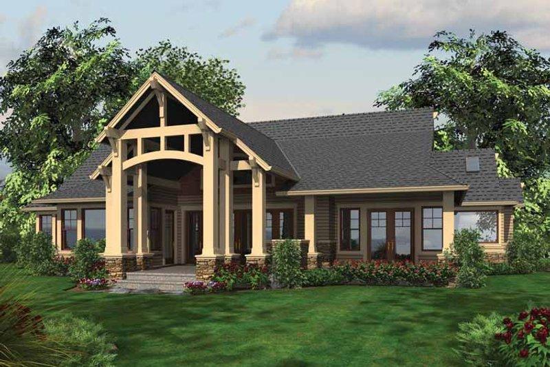 Craftsman Exterior - Rear Elevation Plan #132-548 - Houseplans.com