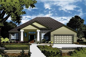 Contemporary Exterior - Front Elevation Plan #1015-42