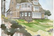 Craftsman Style House Plan - 3 Beds 3 Baths 3175 Sq/Ft Plan #928-34 Exterior - Rear Elevation