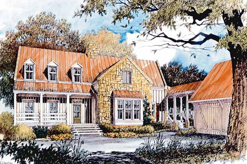 Country Exterior - Front Elevation Plan #429-365 - Houseplans.com