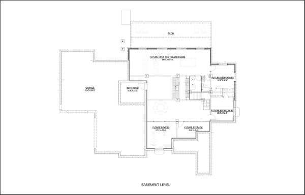 Craftsman Floor Plan - Lower Floor Plan Plan #1069-13