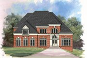 European Style House Plan - 4 Beds 4 Baths 3256 Sq/Ft Plan #119-297 Exterior - Front Elevation