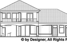 Home Plan - Mediterranean Exterior - Rear Elevation Plan #1017-38