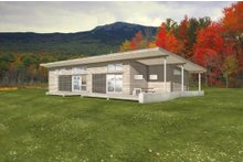 Home Plan - Modern Exterior - Front Elevation Plan #497-35
