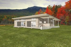 Modern Exterior - Front Elevation Plan #497-35