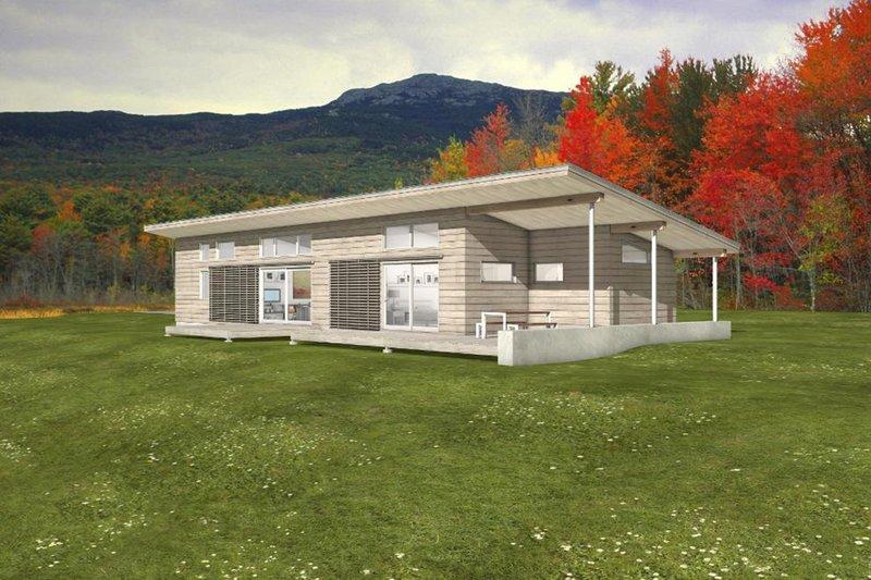 House Blueprint - Modern Exterior - Front Elevation Plan #497-35