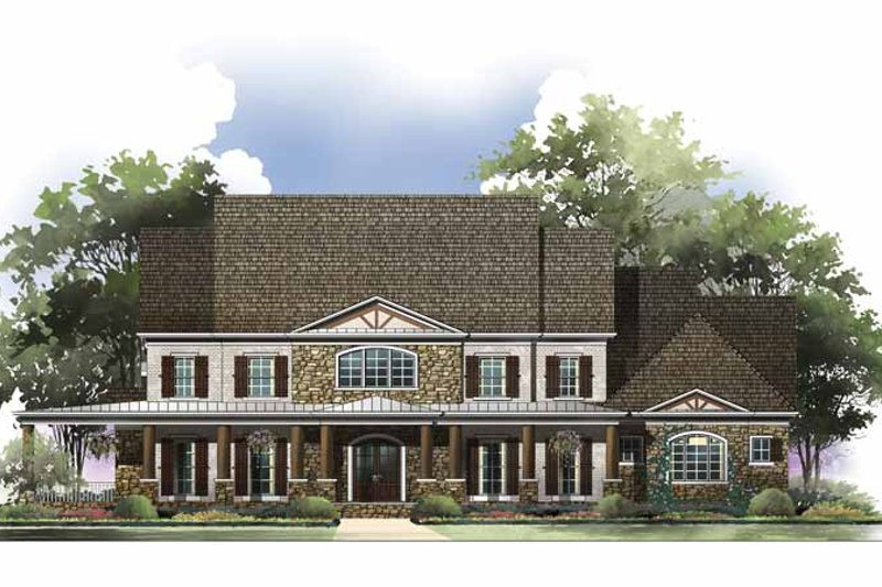 Colonial Exterior - Front Elevation Plan #119-413