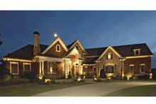 Home Plan - European Exterior - Front Elevation Plan #54-289