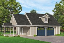 House Blueprint - Traditional Exterior - Front Elevation Plan #124-1233