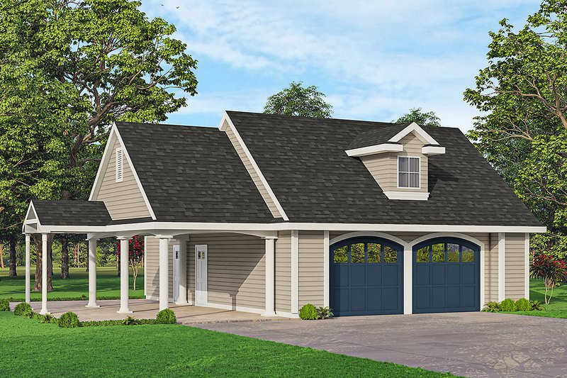 House Plan Design - Traditional Exterior - Front Elevation Plan #124-1233