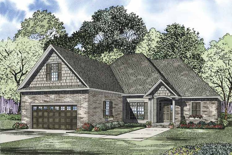 Architectural House Design - Ranch Exterior - Front Elevation Plan #17-3324