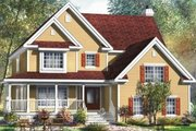 Traditional Style House Plan - 4 Beds 2.5 Baths 3515 Sq/Ft Plan #25-4157 Exterior - Front Elevation