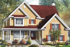 Traditional Exterior - Front Elevation Plan #25-4157