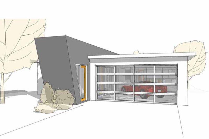 Contemporary Exterior - Front Elevation Plan #64-312 - Houseplans.com