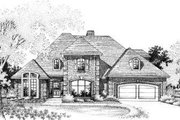 European Style House Plan - 4 Beds 3.5 Baths 2685 Sq/Ft Plan #310-185 Exterior - Front Elevation