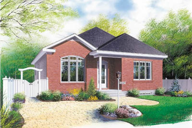 Modern Style House Plan - 3 Beds 1 Baths 1131 Sq/Ft Plan #23-176 Exterior - Front Elevation
