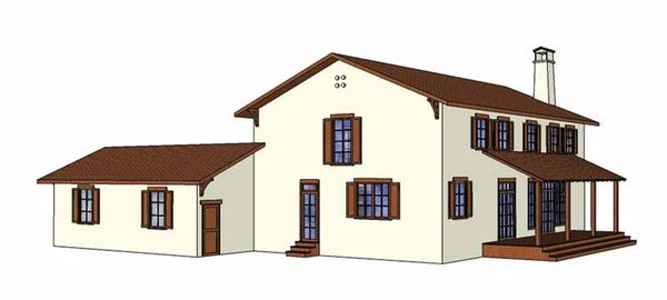 Mediterranean Floor Plan - Other Floor Plan Plan #1042-9