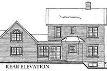 Home Plan Design - Victorian Exterior - Rear Elevation Plan #23-2016