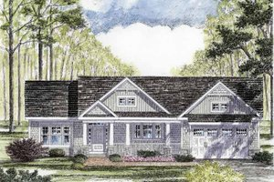 House Plan Design - Craftsman Exterior - Front Elevation Plan #316-260