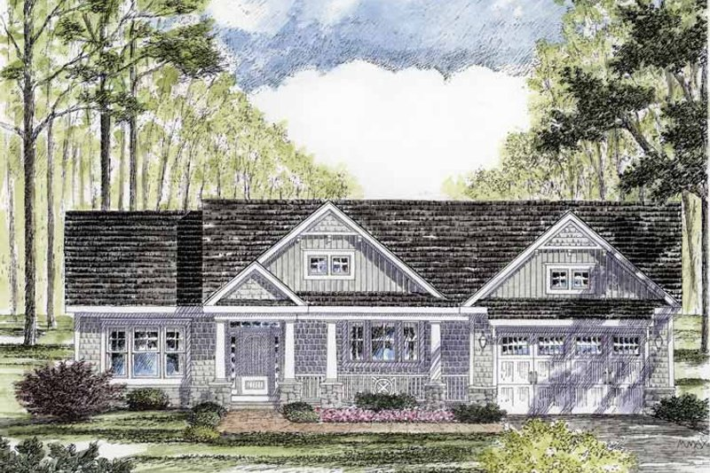 Craftsman Style House Plan - 3 Beds 2 Baths 1720 Sq/Ft Plan #316-260 Exterior - Front Elevation