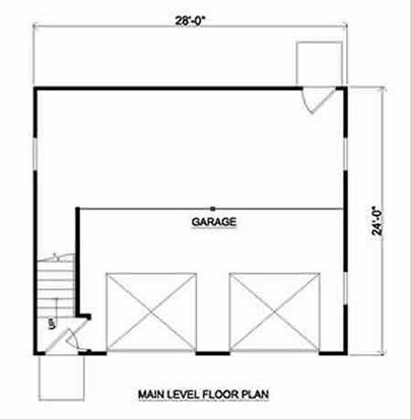 Country Floor Plan - Main Floor Plan #116-228