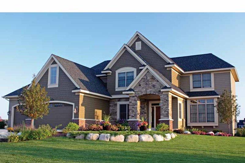 Architectural House Design - European Exterior - Front Elevation Plan #51-1128