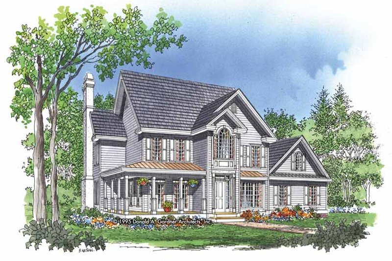 Country Exterior - Front Elevation Plan #929-227