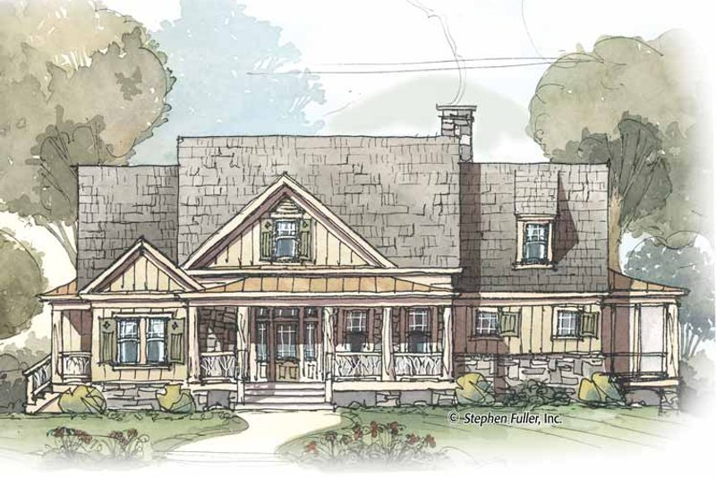 Country Exterior - Front Elevation Plan #429-424 - Houseplans.com