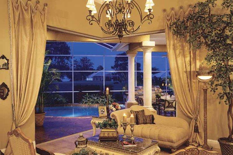 Mediterranean Interior - Family Room Plan #930-60 - Houseplans.com