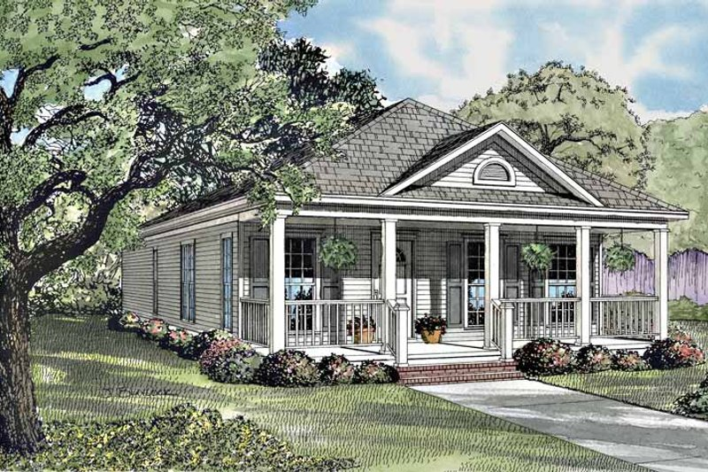 Home Plan - Country Exterior - Front Elevation Plan #17-2970