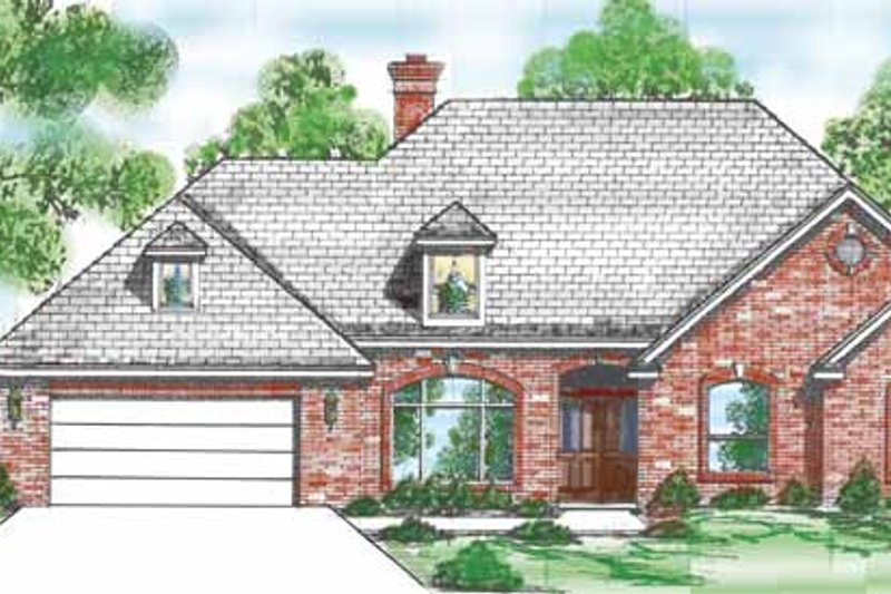 Country Exterior - Front Elevation Plan #52-264