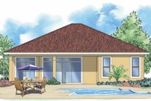 Home Plan - Mediterranean Exterior - Rear Elevation Plan #930-386