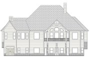 European Style House Plan - 4 Beds 5 Baths 3907 Sq/Ft Plan #437-70 Exterior - Rear Elevation