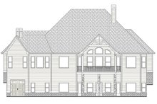 Home Plan - European Exterior - Rear Elevation Plan #437-70