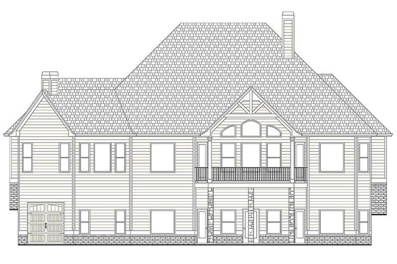 European Exterior - Rear Elevation Plan #437-70 - Houseplans.com