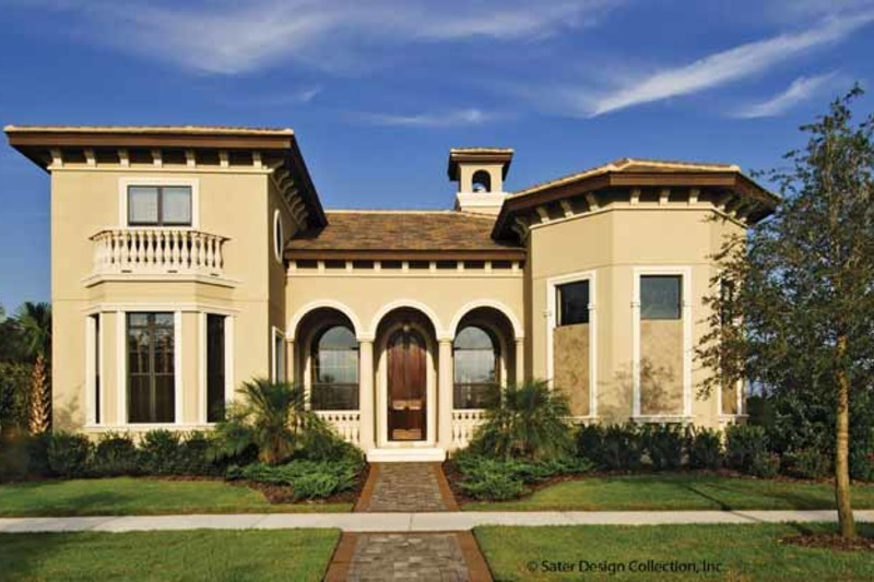 Mediterranean Exterior - Front Elevation Plan #930-428