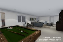 Architectural House Design - Opt. Finished Basement Family Room