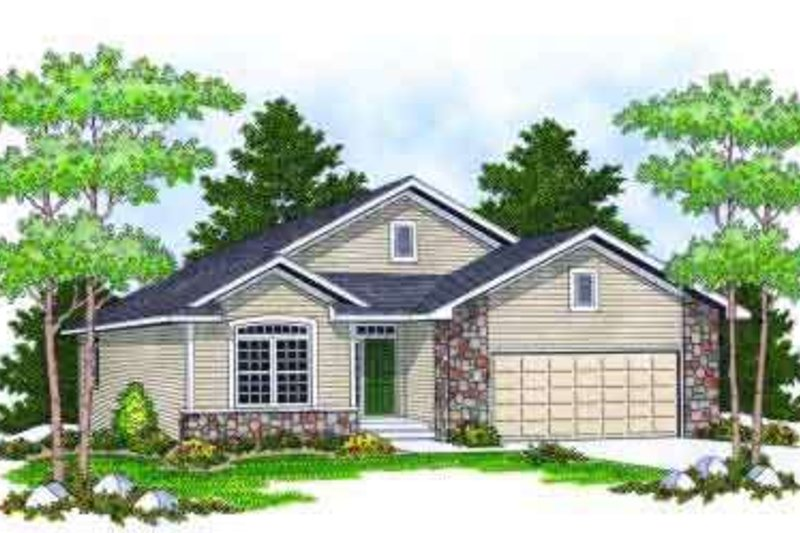 Ranch Exterior - Front Elevation Plan #70-664