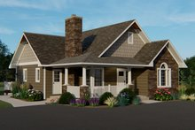 Dream House Plan - Craftsman Exterior - Front Elevation Plan #1064-45
