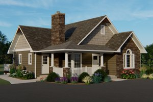Craftsman Exterior - Front Elevation Plan #1064-45