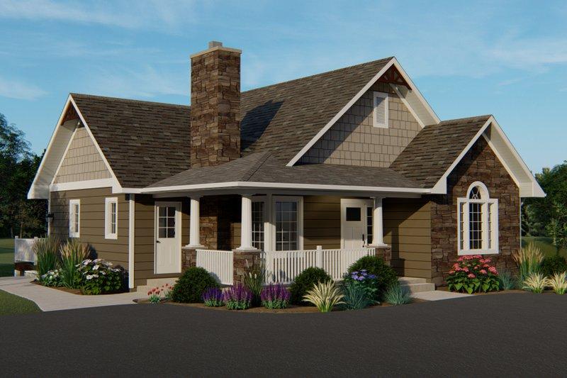 Dream House Plan - Craftsman Exterior - Front Elevation Plan #1064-45
