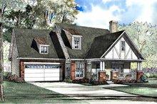 Tudor Exterior - Front Elevation Plan #17-3180