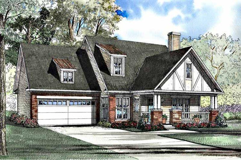 Dream House Plan - Tudor Exterior - Front Elevation Plan #17-3180